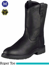 Ariat Men's Sierra Boots Roper Toe Black 10002422