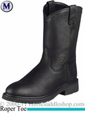Ariat Men's Sierra Boots Roper Toe Black 2422
