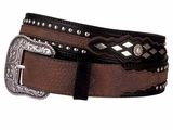 Ariat Men's Western Contemporary Black and Brown Belt - Austin 4269
