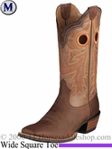 Ariat Men's Wildstock Boots Wide Square Toe Weathered Brown 5876