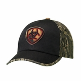 Ariat Mens Camo Black Mesh Logo Ball Cap 1582201