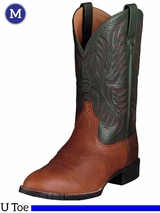 Ariat Mens Heritage Stockman Boots U Toe Cedar 10002258