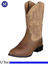 Ariat Mens Heritage Stockman Boots U Toe Tumbled Brown 10002247