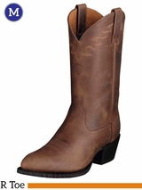 Ariat Mens Sedona Boots R Toe Distressed Brown 10002194