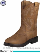 Ariat Mens Sierra Saddle Boots Roper Toe Aged Bark 2304