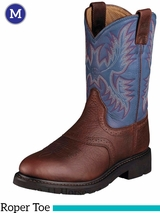 Ariat Mens Sierra Saddle Boots Roper Toe Redwood 10002306