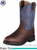 Ariat Mens Sierra Saddle Boots Roper Toe Redwood 2306