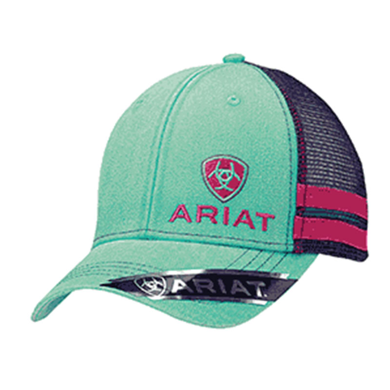 Ariat Turquoise Purple Logo Mesh Baseball Cap 1595633