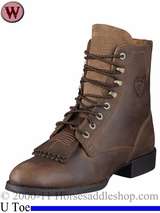 Ariat Women's Boots Heritage Lacer II U Toe Distressed Brown 2147