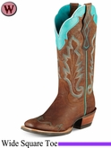 Ariat Women's Caballera Boots Wide Square Toe 7852