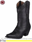 Ariat Women's Dixie Boots Black Deertan 1367