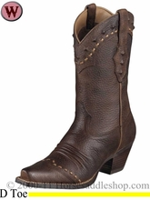 DISCONTINUED Ariat Women's Dixie Boots Brown Oiled Rowdy 1368