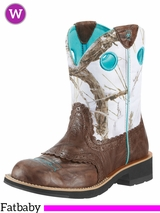 Ariat Women's Fatbaby Cowgirl Boots Brown Crinkle 10009503