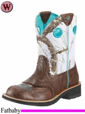 Ariat Women's Fatbaby Cowgirl Boots Brown Crinkle 9503