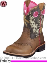 Ariat Women's Fatbaby Cowgirl Boots Fatbaby Toe Distressed Brown 6854