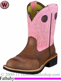 Ariat Women's Fatbaby Cowgirl Boots Fatbaby Toe Roughed Chocolate 6855