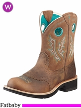 Ariat Women's Fatbaby Cowgirl Boots Powder Brown 10010219