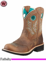 Ariat Women's Fatbaby Cowgirl Boots Powder Brown 10219