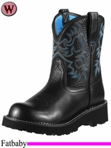 Ariat Women's Fatbaby Original Boots 0833 Black Deertan