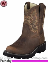Ariat Women's Fatbaby Original Boots Distressed Brown 7646