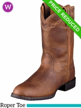 Ariat Women's Heritage Roper Boots Roper Toe Distressed Brown 0797 CLEARANCE