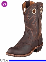 Ariat Women's Heritage Roughstock Boots U Toe Antique Brown 10001594