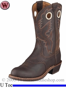 Ariat Women's Heritage Roughstock Boots U Toe Antique Brown 1594