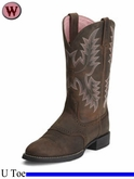 Ariat Women's Heritage Stockman Boots U Toe Driftwood Brown 1605