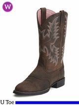 Ariat Women's Heritage Stockman Boots U Toe Driftwood Brown 10001605