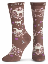 Ariat Women's Horse Lover Crew Socks A10008586