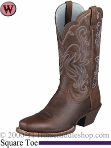 Ariat Women's Legend Boots Square Toe Brown Oiled Rowdy 1046
