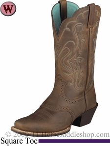 Ariat Women's Legend Boots Square Toe Distressed Brown 1053