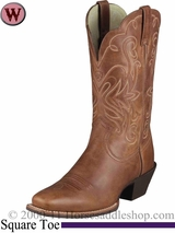 Ariat Women's Legend Boots Square Toe Russet Rebel 1056