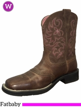 Ariat Women's Powder Brown And Pink Fatbaby Boots 10005913
