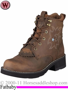 Ariat Women's Probaby Lacer Boots Fatbaby Toe 1090