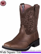 Ariat Women's Ranchbaby Square Toe Boots Brown Rebel 5913