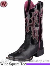 Ariat Women's Tombstone Boots Wide Square Toe Black 5866