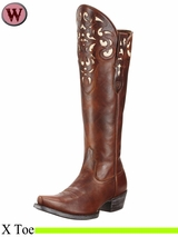 DISCONTINUED Ariat Women's Western Fashion Hacienda Boots 10252