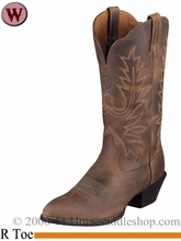 Ariat Women's Western Heritage R Toe Boots Distressed Brown 1021