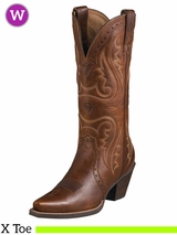 Ariat Women's Western Heritage X Toe Boots Vintage Carmel 10005908