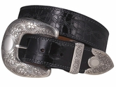 Ariat Womens Fatbaby Black Gator Print Belt 4607