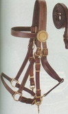 DISCONTINUED Aussie Supreme Leather Bridle/Halter Combination br001