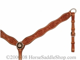 Barrel Racing Scalloped Breastcollar by Circle Y y4260-0554