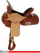 "** SALE ** 14"" to 17""  Big Horn AJ Fast Barrel Saddle 1582"