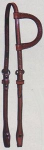 Big Horn Single Ear Headstall 2brown hsbh3518