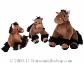 Bigtime Barnyard Plush Horse - Large, Dark Brown 5069002