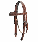 Billy Cook Basketweave Star Concho Browband Headstall 11-794