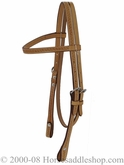 Billy Cook Brow Headstall Running W 11-799