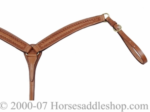 Billy Cook Double Border Breast Strap w/Brass Hardware 12-954