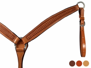 Billy Cook Hand Tooled Crazy Stamp Breast Strap 12-761